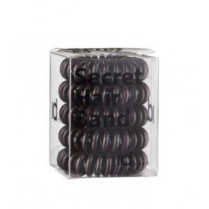 Id Hair Secret Hair Band Brown Силиконовые коричневые резинки для волос, 5 шт.