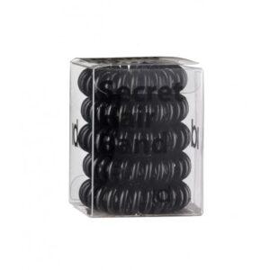 Id Hair Secret Hair Band Clear Силиконовые черные резинки для волос, 5 шт.