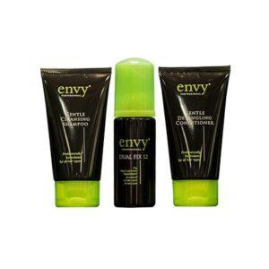 Мини набор Envy для путешествий: Шампунь и кондиционер (по 75 мл) и реконструкция волос Envy Dual Fix 12 (50 мл)