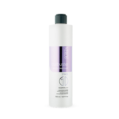 Screen Curlbuster Keratin Treatment Stage 1 - Кератиновый Шампунь для Выпрямления волос, 500 мл.